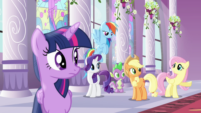 File:Fluttershy unwanting to miss train S4E01.png