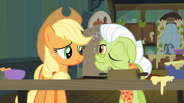 File:Granny Smith winks at Applejack S03E09.png