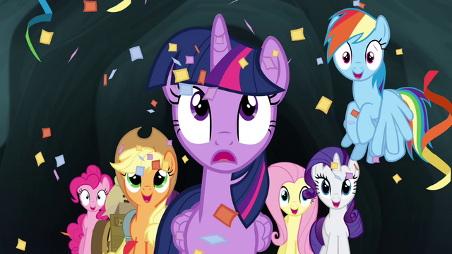 File:Mane 6 showered with confetti S4E22.png