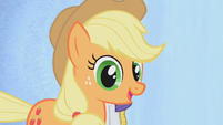Applejack smiling with big eyes S01E14