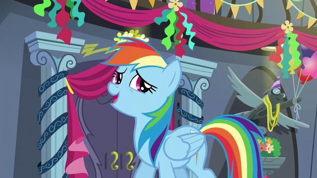 "File:Rainbow Dash ""it was somethin', all right"" S6E7.png"