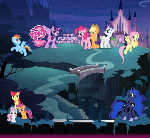 File:The Mane Six at a castle.jpg