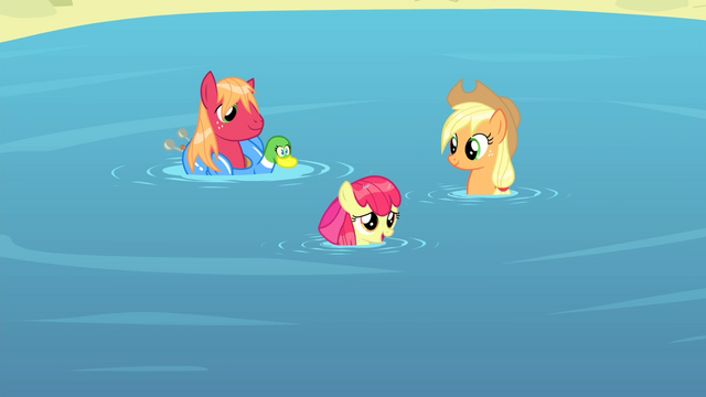 "File:Apple Bloom ""Sure wish you'd come swim with us"" S4E20.png"