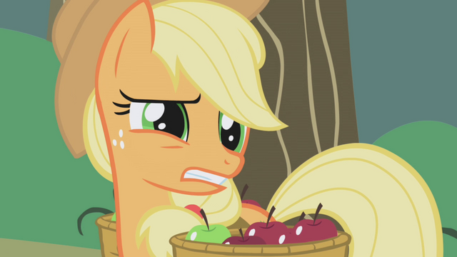 """File:Applejack """"twenty stalks?"""" S1E04.png"""