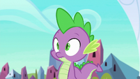 Spike hears one of the royal guards S6E16