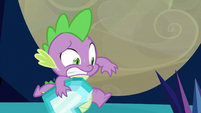 Spike holding Crystal Heart S3E2