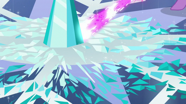 File:Twilight's magic beam being shot onto the Crystal Heart pieces S6E2.png