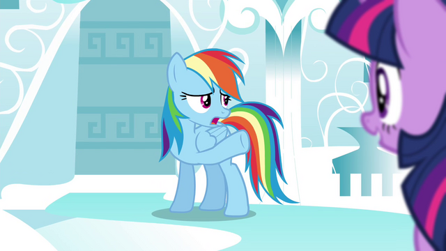 """File:Rainbow """"Celestia needed protective forces"""" S4E21.png"""