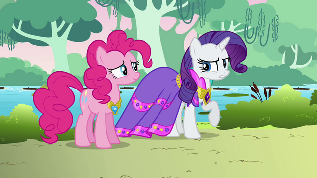 File:Rarity glad she didn't wear her fanciest outfit S03E10.png