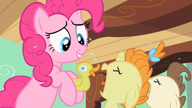 File:Pinkie Pie with rubber ducky S2E13.png