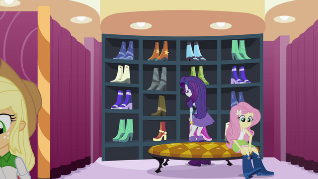 File:Rarity and friends picking out clothes EG.png