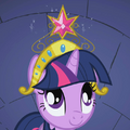 Twilight Sparkle sees Element of Harmony S1E02