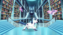 Shining Armor chases Flurry Heart S6E2
