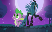 Chrysalis and Spike Back to Back