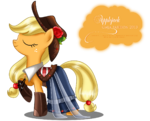 Applejack Gala Fashion Dress by artist-selinmarsou