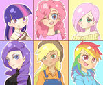 103194 - applejack artist jejungt artist fluttershy human humanized pinkie pie rainbow dash rarity twilight sparkle