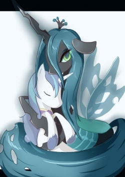 Image - Chrysalis hugging Shining Armor.jpg | My Little ...