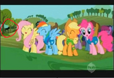 Slenderpony potentially watching the Mane 6