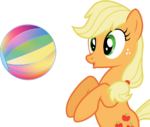Mlp applejack speed vector beach ball by mewtwo ex-d5vwpxr
