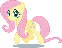 Fluttershy Trotting, Staring at You
