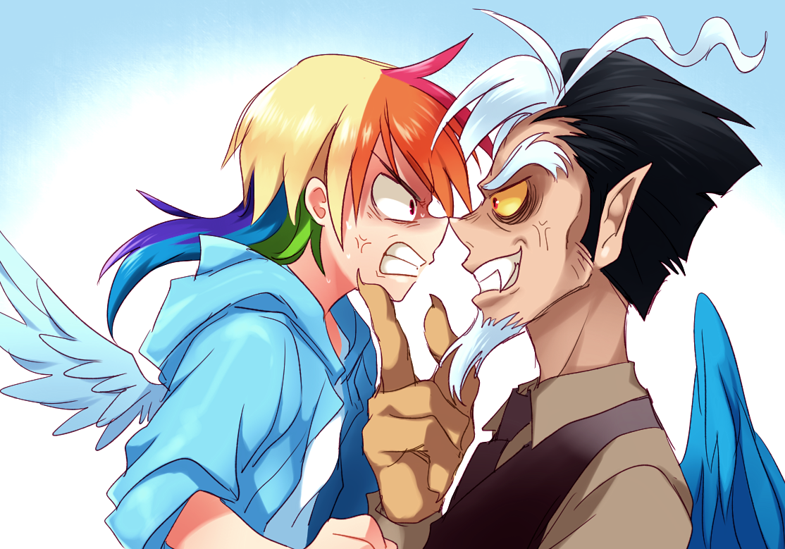 Image - Rainbow Dash and Discord by megarexetera.png | My Little Pony ...