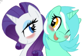 Rarity and Lyra shipping by artist-faith-wolff