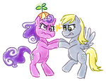 Screwball and Derpy Hooves