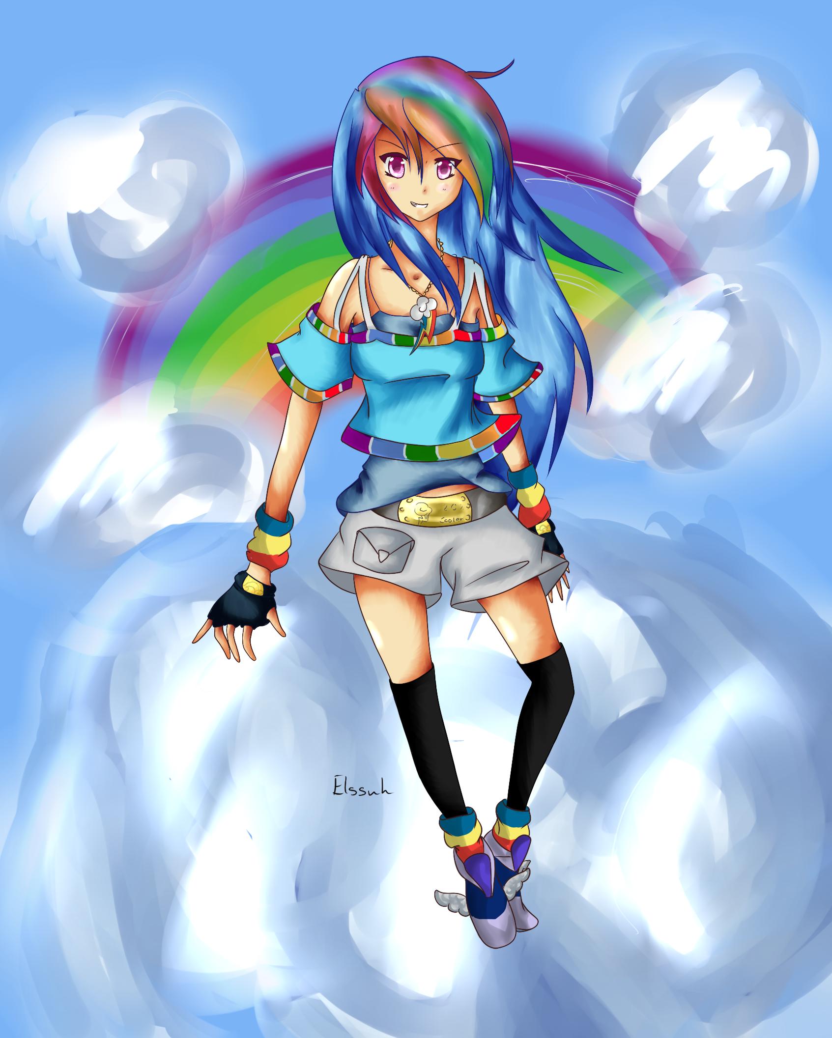 Image - Rainbow Dash human form.png | My Little Pony Fan Labor ...