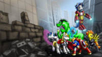 Wallpaper Ponies assemble by pluckyninja