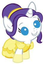 Baby rarity dressed as belle by beavernator
