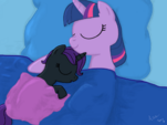 Nyx and Twilight fast asleep by sgtgarand