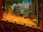 Plunder island theatre stage