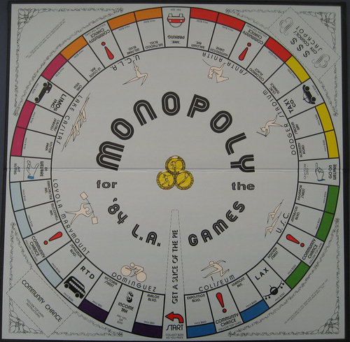 Monopoly 84 LA Games board
