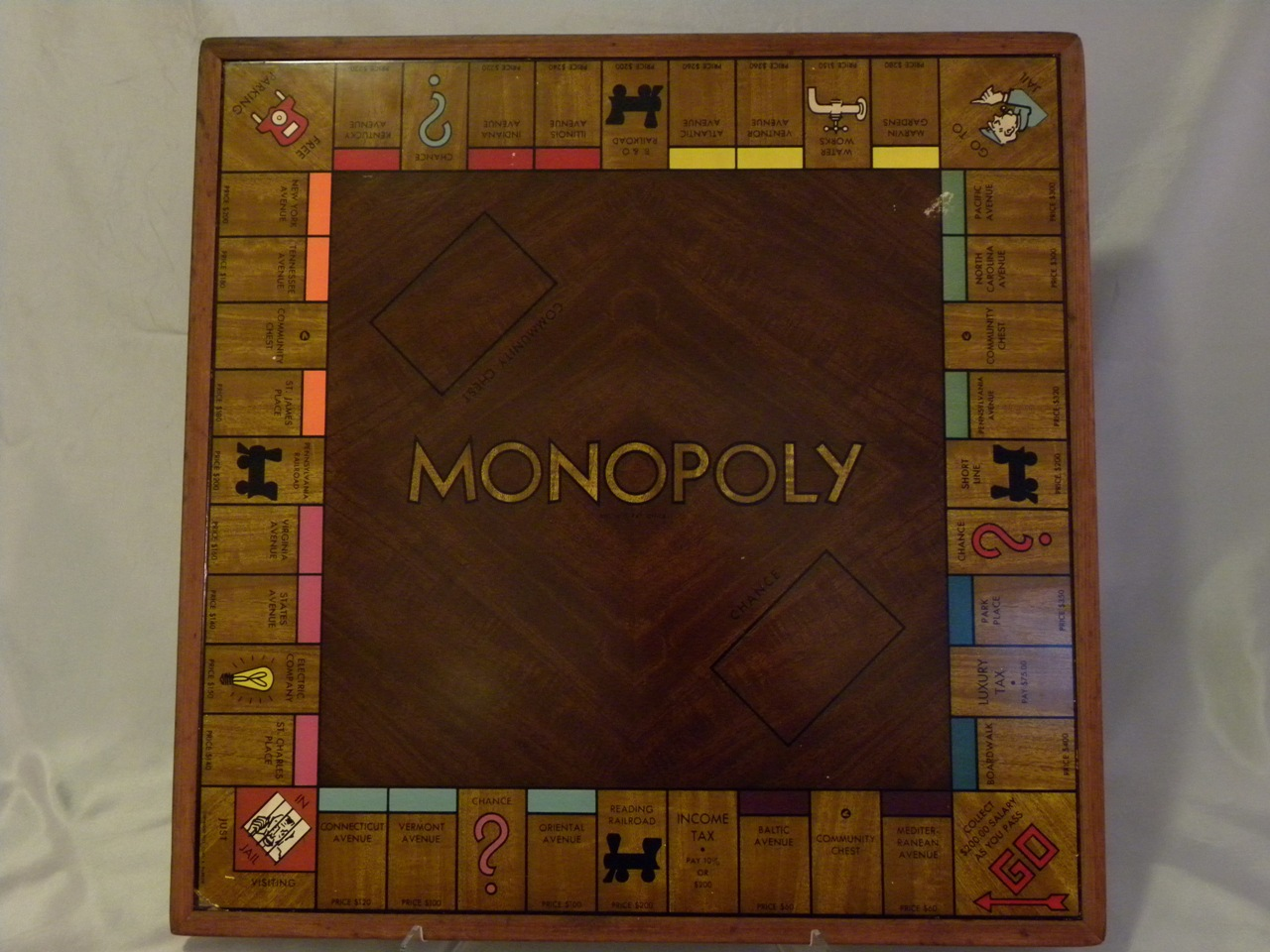 Wood Board Games ~ Deluxe wood edition monopoly wiki fandom powered