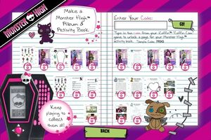 Make a Monster High Album and Activity Book - unlocks