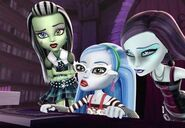 Frankie, Ghoulia and Spectra in Ghouls Rule