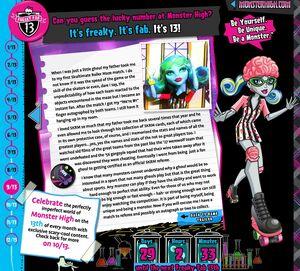 FreakFab13 - Ghoulia's diary