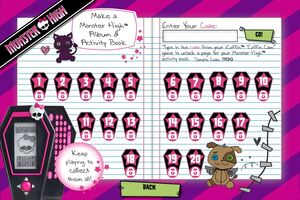 Make a Monster High Album and Activity Book - locks