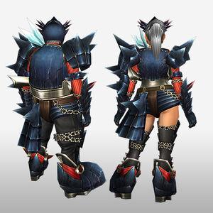 FrontierGen-Guren Armor (Gunner) (Back) Render