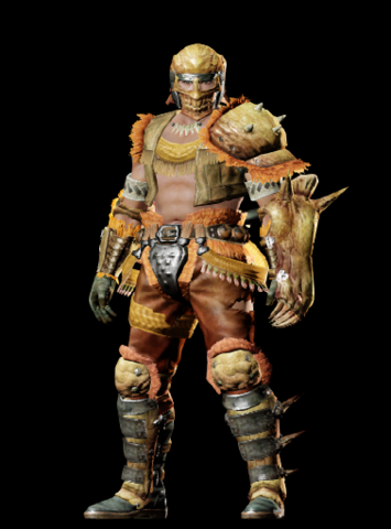 File:MHO-Gold Congalala Armor (Gunner) (Male) Render 001.png