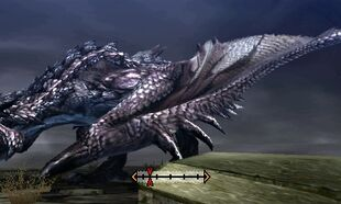 MH4U-Silver Rathalos Left Wing Break 001