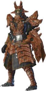 MHO-Sandstone Basarios Armor (Gunner) (Female) Render 001
