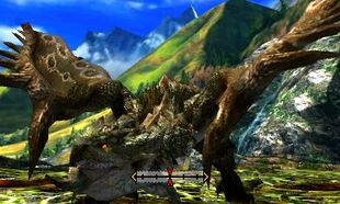 MH4U-Rathian Back Break 001