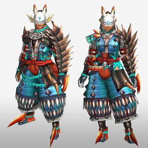 FrontierGen-Tamamo G Armor (Gunner) (Front) Render
