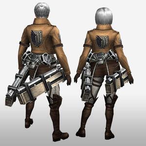 FrontierGen-Survey Corps Armor (Both) (Back) Render