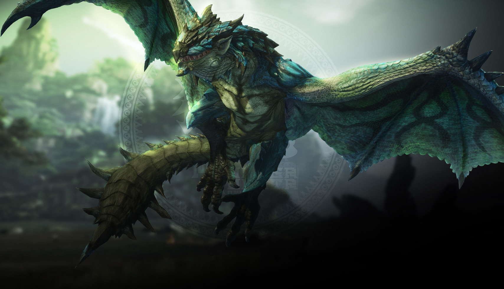 Image - MHO-Azure Rathalos Artwork 002.jpg | Monster ...