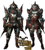 MH3-Rathalos Armor (Blademaster) Render