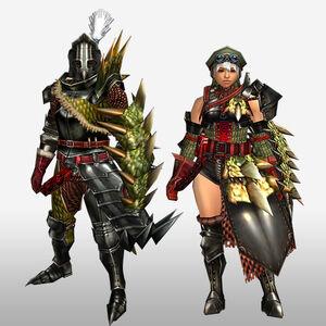 FrontierGen-Reia G Armor (Gunner) (Front) Render