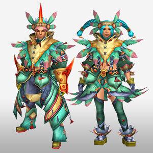 FrontierGen-Furanki G Armor (Blademaster) (Front) Render