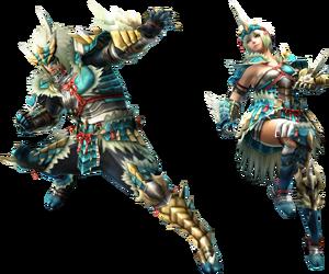 FrontierGen-Zinogre Armor (Gunner) (Both) Render 2